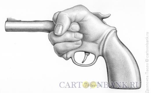 Карикатура: Пистолет, Далпонте Паоло