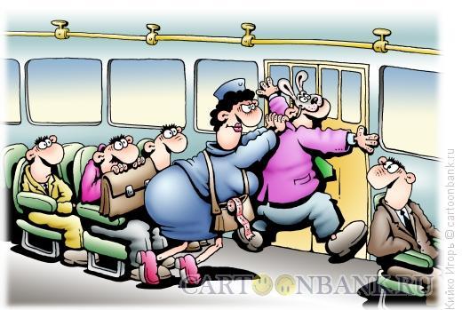 Карикатура: Заяц и кондуктор, Кийко Игорь