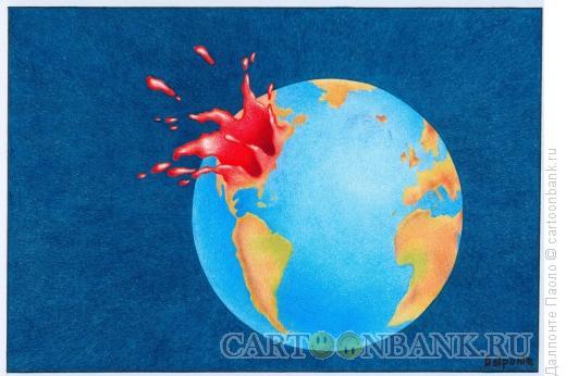 Карикатура: Взрывающийся мир, Далпонте Паоло