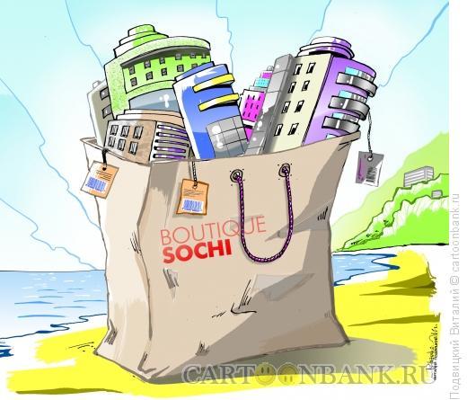 Карикатура: Сочи-строительный бутик, Подвицкий Виталий