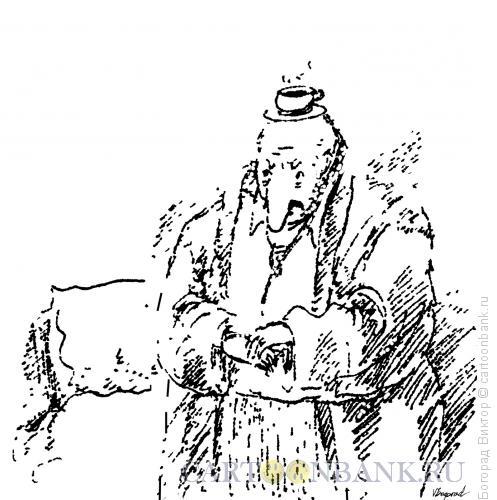 Карикатура: Утренний черный кофе, Богорад Виктор