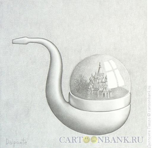 Карикатура: Трубка-сувенир, Далпонте Паоло