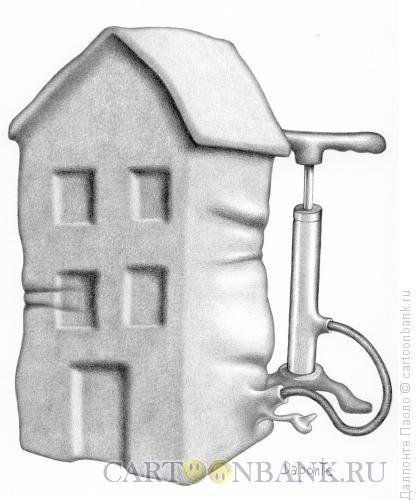 Карикатура: надувной дом, Далпонте Паоло
