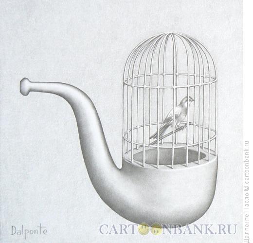 Карикатура: трубка-клетка, Далпонте Паоло