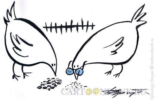 Карикатура: зернышки, Эренбург Борис
