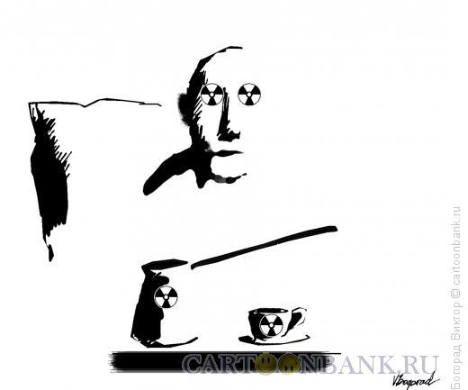 Карикатура: Крепкий кофе, Богорад Виктор