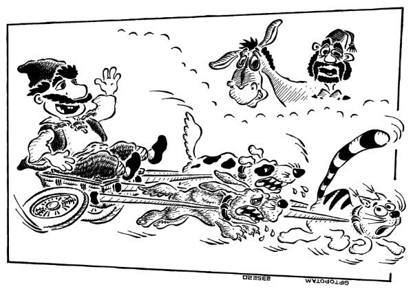 Карикатура: Голь на выдумки хитра, Giptopotam