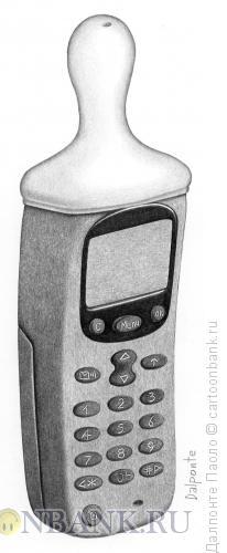 Карикатура: Мобильная соска, Далпонте Паоло