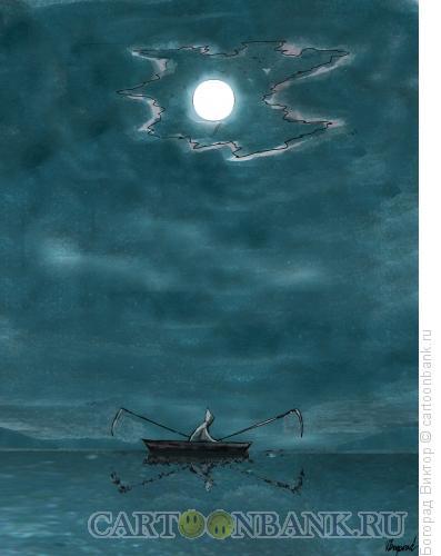 Карикатура: Ночной гребец, Богорад Виктор