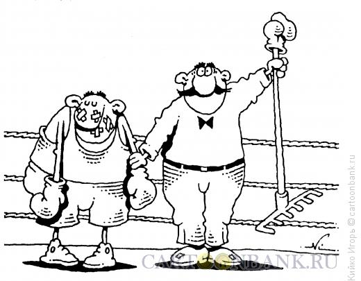 Карикатура: Победили грабли, Кийко Игорь