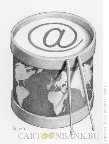 Карикатура: Мир-барабан, Далпонте Паоло