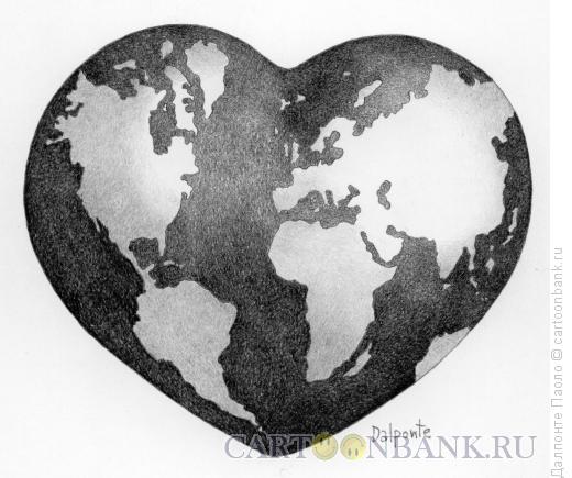 Карикатура: Большое сердце, Далпонте Паоло
