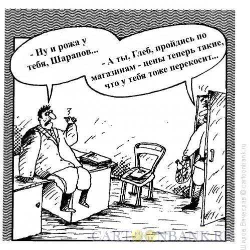 Карикатура: Цены растут, Шилов Вячеслав