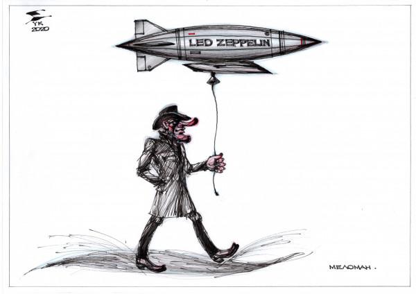Карикатура: Меломан ., Юрий Косарев