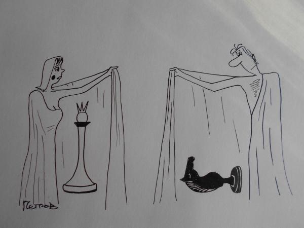 Карикатура: Женщина с покрывалом 17, Петров Александр