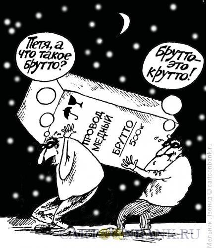 Карикатура: Знание- сила!, Мельник Леонид