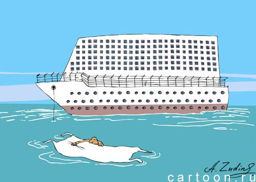 Карикатура: Граф Монте Кристо, Александр Зудин