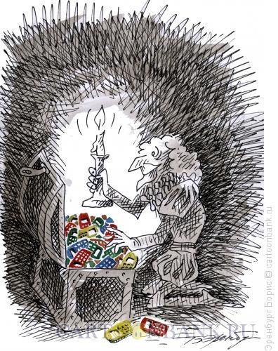 Карикатура: Скупой рыцарь, Эренбург Борис