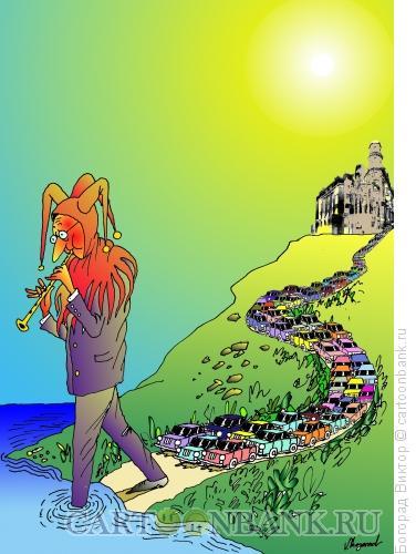 Карикатура: Крысолов из Гамельна, Богорад Виктор