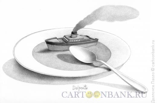 Карикатура: Большая тарелка супа, Далпонте Паоло