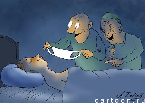 Карикатура: Принуждение к карантину, Александр Зудин