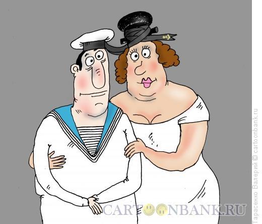 Карикатура: Пришвартовали, Тарасенко Валерий