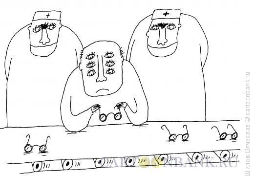 Карикатура: Специалист на конвейере, Шилов Вячеслав
