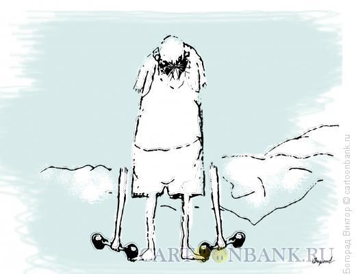 Карикатура: Гантели, Богорад Виктор