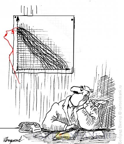 Карикатура: Влюбленный экономист, Богорад Виктор