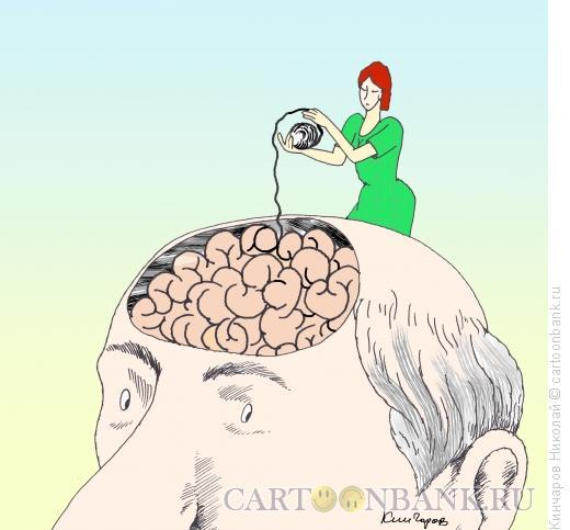 Карикатура: Под управлением женщины, Кинчаров Николай