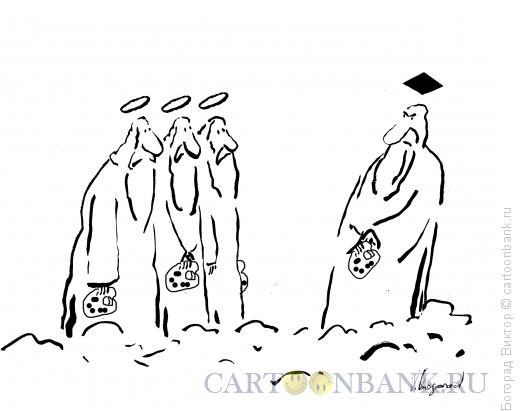 Карикатура: нимб-черный квадрат, Богорад Виктор