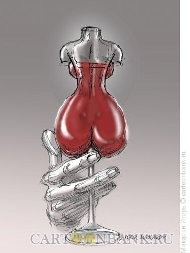 Карикатура: бокал вина, Макаров Игорь