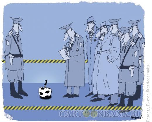 Карикатура: Жертва футбола, Богорад Виктор