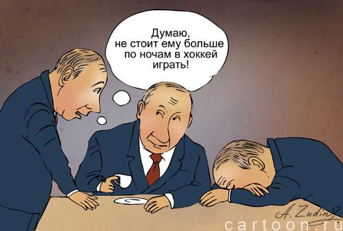 Карикатура: Двойники, Александр Зудин