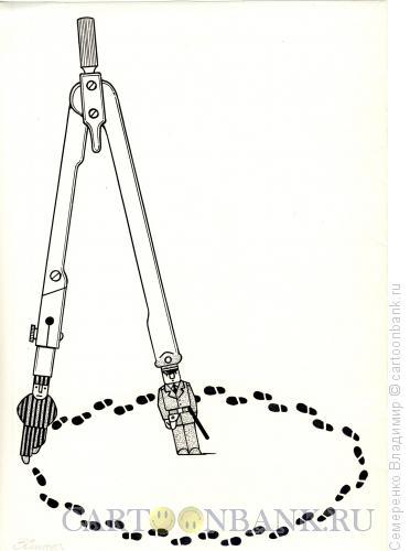 Карикатура: Прогулка заключенного, Семеренко Владимир
