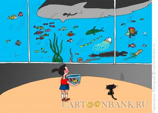 Карикатура: Аквариум, Тарасенко Валерий