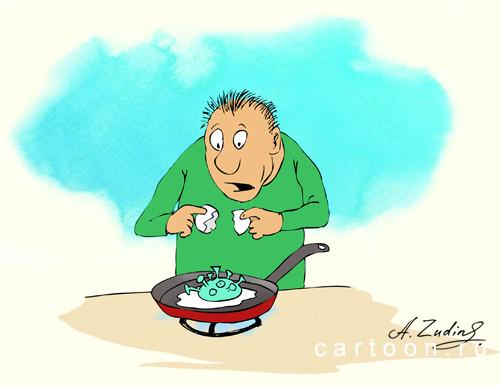 Карикатура: Короновирус, Александр Зудин