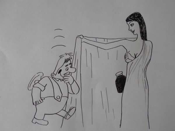 Карикатура: Карлсон и варенье, Собака Элла