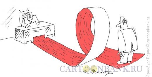 Карикатура: Мертвая петля, Эренбург Борис