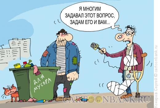 Карикатура: опрос, Кокарев Сергей