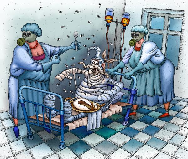 Карикатура: Лічення патріота, Иванов Игорь