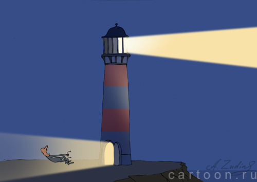 Карикатура: Световой удар, Александр Зудин