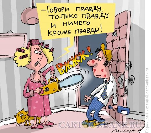 Карикатура: Пилит мужа, Воронцов Николай