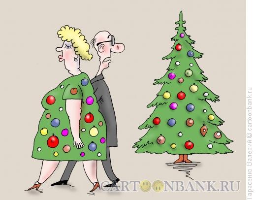 Карикатура: Елочка, Тарасенко Валерий