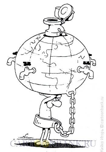 Карикатура: Тяжелая ноша, Кийко Игорь