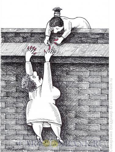 Карикатура: Экмтремальный маникюр, Семеренко Владимир