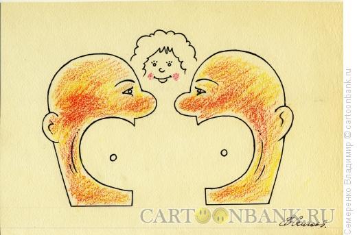 Карикатура: Мужской разговор, Семеренко Владимир