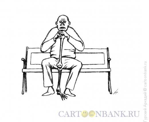 Карикатура: старик, Гурский Аркадий