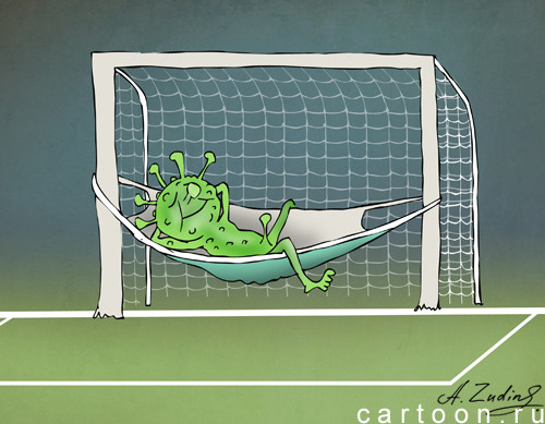 Карикатура: Сборная Пандемии в финале ЧЕ-2020, Александр Зудин