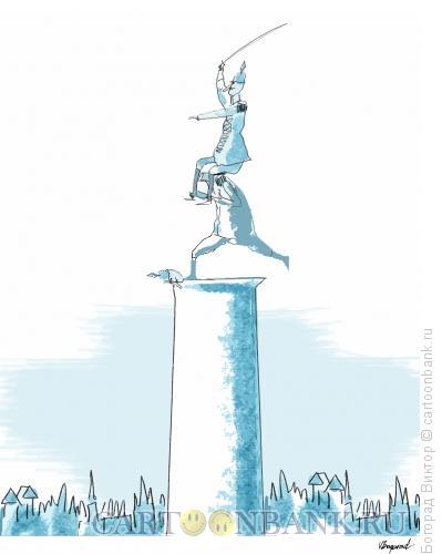 Карикатура: Памятник полководцу, Богорад Виктор